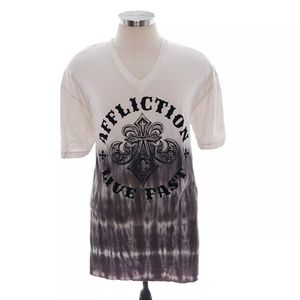 Affliction Posh Royale Mens XXL V Neck T-Shirt